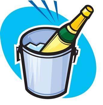 Champagne for celebration vector