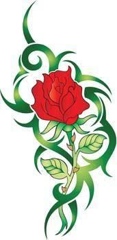 free vector Rose Flower Vetor 16