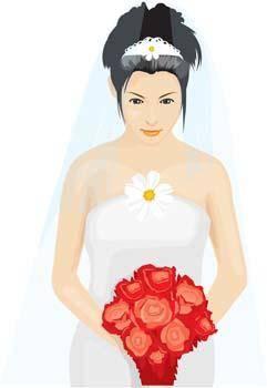 free vector Bride 17
