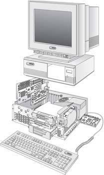 Dekstop computer vector 35