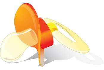 free vector Baby pacifiers 1