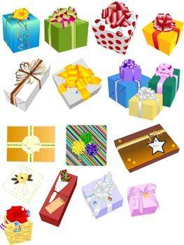 free vector Gift and Present Set Vector