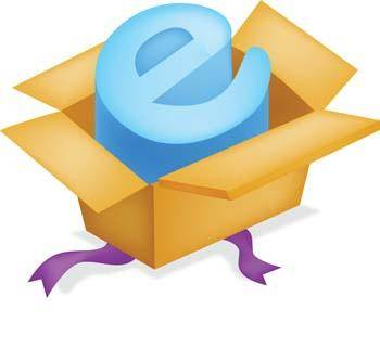 free vector Internet Explorer in a box vector