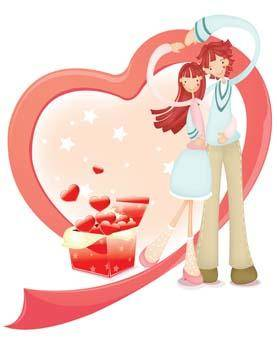 free vector Couple in love 32