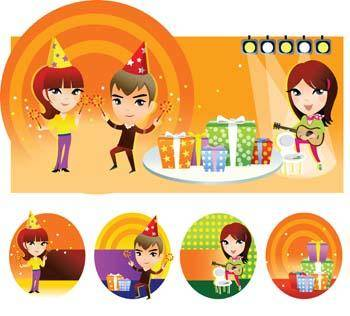 free vector Kids Party Celebration
