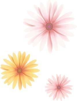 free vector Button Flower Vector 19