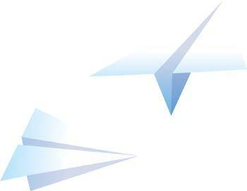 free vector Paper airplane 1