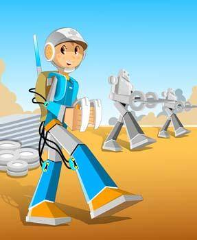 free vector Space Robot Vector 2