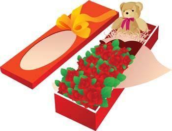 free vector Present Flower Vector 15