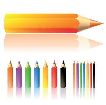 Lots of colour pencils vector