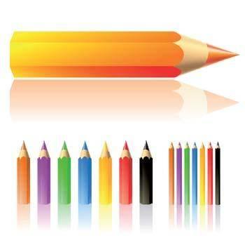 free vector Lots of colour pencils vector