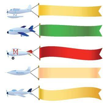 free vector Vector plane with message area