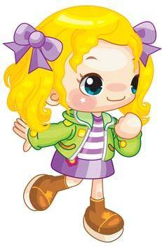 free vector Little Girl 18