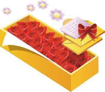 free vector A box of roses