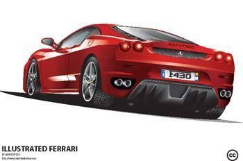 free vector Ferrari Vector Illustration