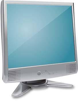 free vector LCD Monitor Vector 11