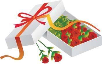 free vector Present Flower Vector 7