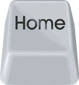 Button Home Vector