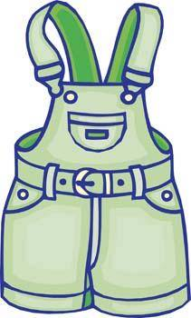 free vector Overalls 2