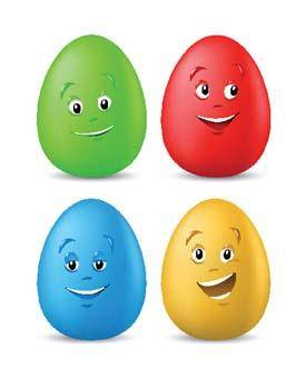 free vector Funny coloured easter eggs