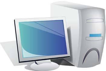 Dekstop computer vector 2