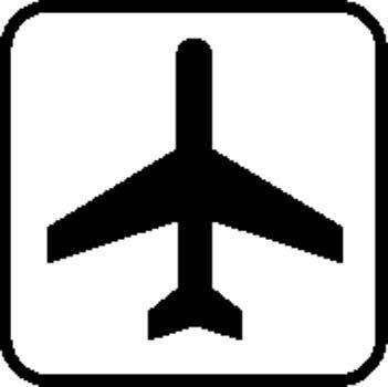 Airport Sign Board Vector