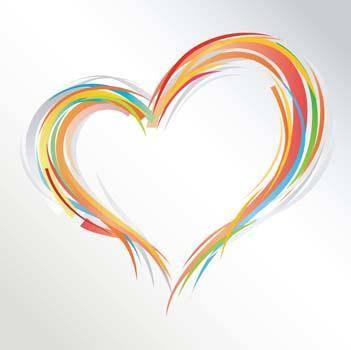 Ornate heart Free Vector / 4Vector