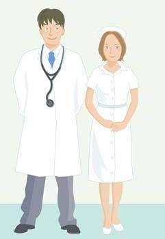 Medical person vector 8