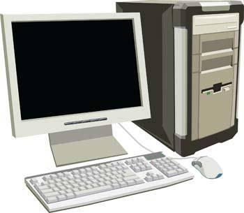 Dekstop computer vector 4