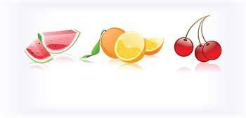 free vector Slice of fruits