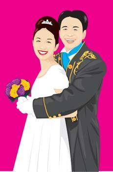 free vector Couple in love 28