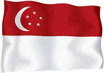 free vector Singapore Flag Vector