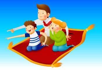 free vector Flying Carpet