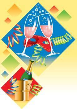 Champagne for celebration vector 10