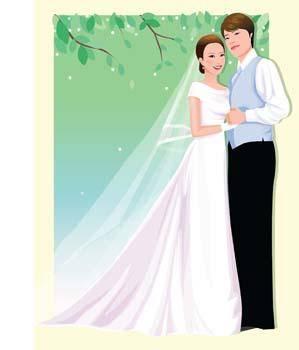 free vector Bride 4