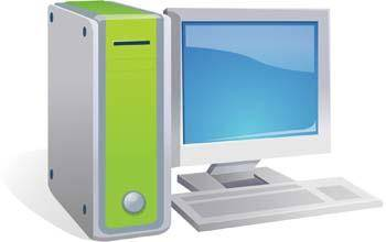 Dekstop computer vector