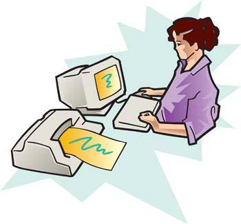 Girl and computer vector