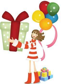 free vector Kids and Gift