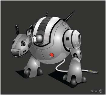 free vector Space Robot Vector 1