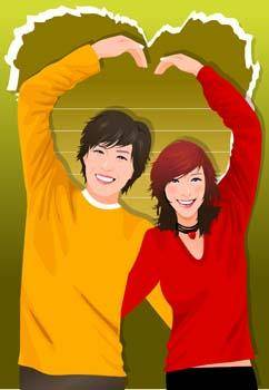 free vector Couple in love 21