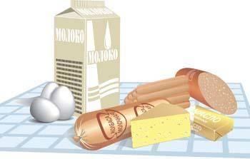 free vector Milk egg sosis cheese