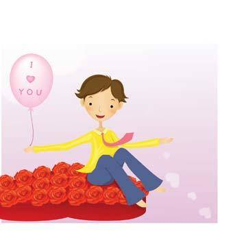 free vector Couple in love 29