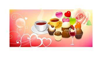 free vector Valentine Day Food