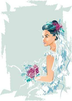 free vector Bride 2