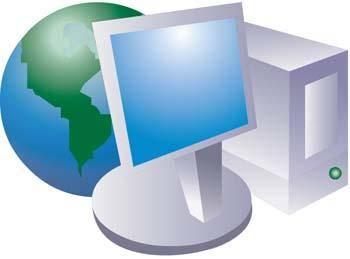 Dekstop computer icon vector