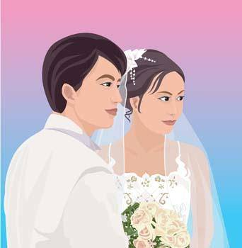 free vector Bride 16