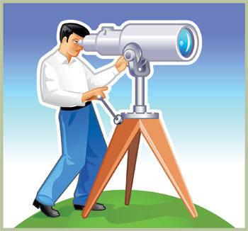 free vector Binoculars vector