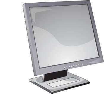 LCD Monitor Vector 5
