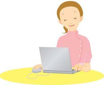 free vector Girls and computer vector 52