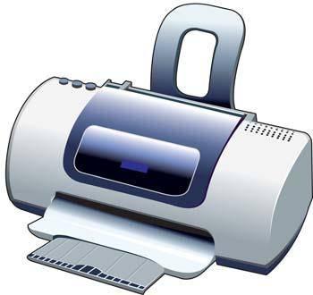 free vector Deskjet Printer Vector